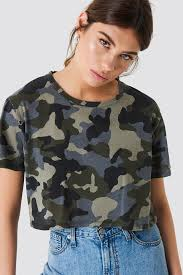 army pattern crop top oversized cropped army na kd com