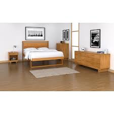 solid cherry wood platform bed modern style furniture american
