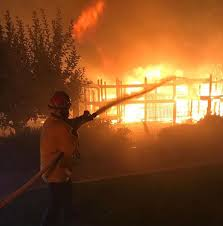 North Bay Deputy Fire Chief by Santa Rosa Firefighters Save Homes Affected By North Bay Wildfire