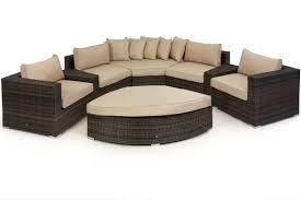 rattan corner sofa maze rattan barcelona deluxe corner sofa set