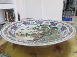 chinese vase appraisal chinese hand painted large ceramic plate antique buyers collection