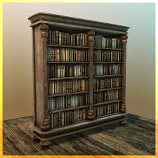 bookcase 3d models for download turbosquid