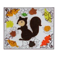 shop living gel squirrel window cling indoor thanksgiving
