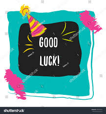 good luck calligraphy concept image poster stock vector 455563816 concept image poster for wall art prints mock up home
