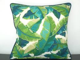 green bench cushion tropical outdoor pillow case green outdoor bench cushion banana