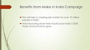 presentation on make in india