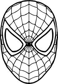 coloring pages spiderman mask spiderman mask coloring mardi