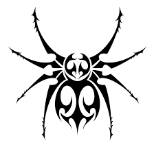 drawn spider web tribal pencil and in color drawn spider web tribal
