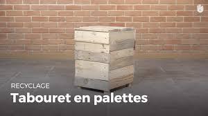 Faire Un Meuble Tv En Palette by Fabriquer Un Tabouret Pouf En Bois De Palette Fabriquer Des
