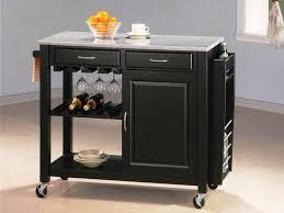 wheels for kitchen island black kitchen island on wheels home furniture