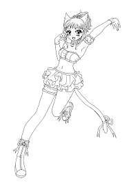 clementine from mew mew anime coloring pages for kids printable