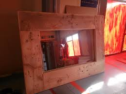 rustic mirror frame from pallets u2022 1001 pallets