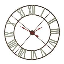 midwest cbk 110004 extra large wall clock with aqua numerals u0026 red