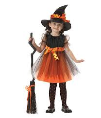 cute kids witch costumes for girls 90 130 cm height halloween