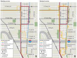 Metro Bus Routes Map by Route Revisions Service Change King County Metro Transit