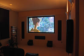 awesome sky ceiling basement home theater design wall mounted
