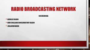 cohesion media group presents radio broadcasting network featuring