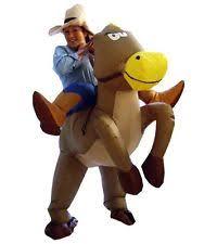 Blow Halloween Costume Giant Inflatable Cowboy Hat Halloween Easy Costume Blow Brown