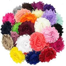 shabby flowers jlika 50 pieces shabby flowers chiffon fabric
