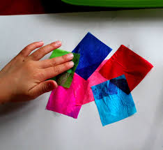 tissue paper butterflies playdough to plato