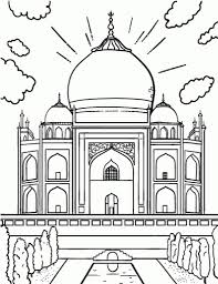 free taj mahal coloring page with brilliant and also gorgeous taj