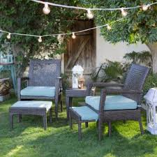 Outdoor Patio Furniture For Small Spaces Small Space Conversation Patio Sets Hayneedle