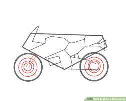 4 ways draw motorcycle wikihow