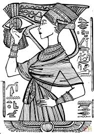 cleopatra queen egypt coloring free printable coloring