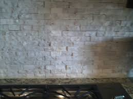 rough travertine backsplash new house decorating ideas
