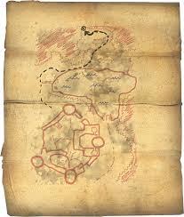 Map Of Nirn Image Fort Neugrad Treasure Map Png Elder Scrolls Fandom