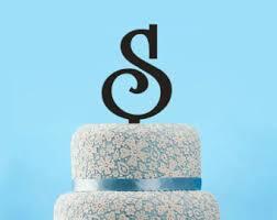 s cake topper letter s cake topper etsy
