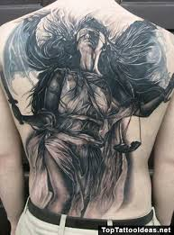 balance sword wings blindfold justice tattoos