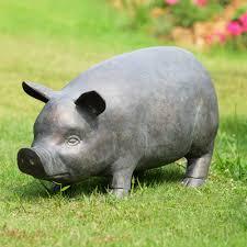 perky pig garden sculpture with bluetooth speaker habitatter com