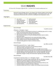 Laborer Resume Sample by Sample Of A Generic Resume