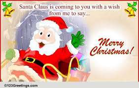 santa claus cards free santa claus wishes