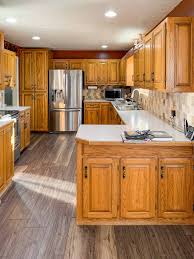 honey oak kitchen cabinets with wood floors honey oak kitchen cabinets 03 painted by payne