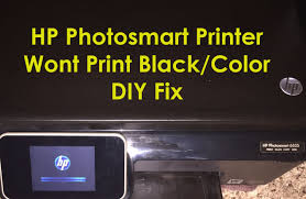 hp photosmart 6525 6520 printer not printing black ink hp