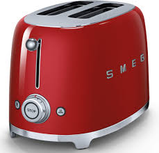 Bagel Setting On Toaster Smeg Tsf01rdus Countertop Toaster With 2 Slice Capacity Defrost