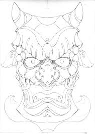 japanese mask coloring page printable coloring pages