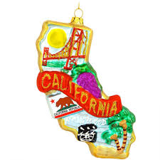 california glass ornament usa theme christmas ornaments