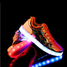 gold light up sneakers fashion gold silver led light up shoes glowing light up in the