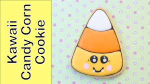 how to make a kawaii halloween cookie candy corn cookie youtube