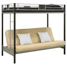 Black Bunk Beds Silver Screen Futon Metal Bunk Bed Silver Black Dhp