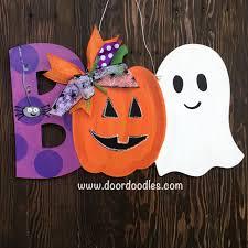 pumpkin door decoration boo halloween door hanger with spider pumpkin jack o lantern