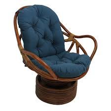 White Rocking Chair Cushion Wicker Cushion Set Blue Cushions Decoration