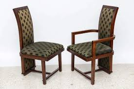 set of 12 frank lloyd wright taliesin mahogany dining chairs by