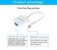 vention vai d05 mini display port dp to vga adapter cable oxygen