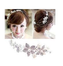 floral hair accessories buy wholesale wedding bridal jewelry pearl headpiece