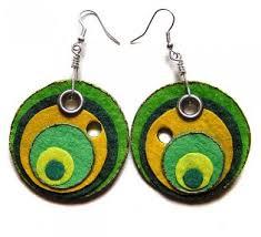felt earrings like color and design edges look sketchy felt schmelt