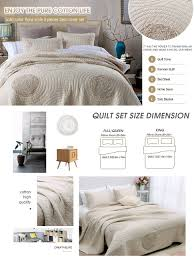 amazon com quilts king size 100 cotton solid champagne modern 3d